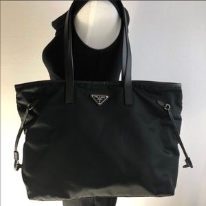18b3ccf725cddf Prada Bags | Vela Nylon Sidecinch Shopping Tote | Poshmark